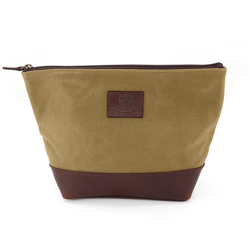 Camel Waxed Canvas Washbag