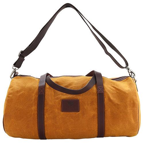 Mustard Canvas Barrel Bag