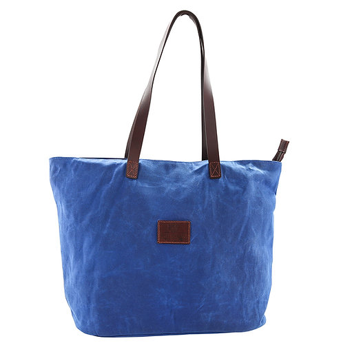 Blue Canvas Tote Bag