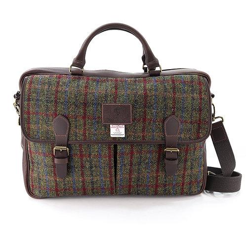 Breanais Harris Tweed Leather Briefcase