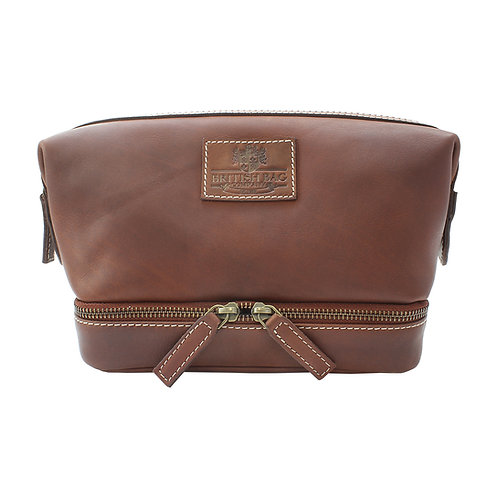 Pull Up Leather Gladstone Washbag
