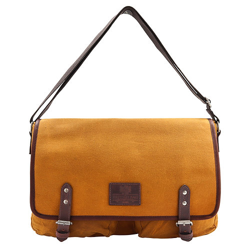 Mustard Canvas Messenger Bag