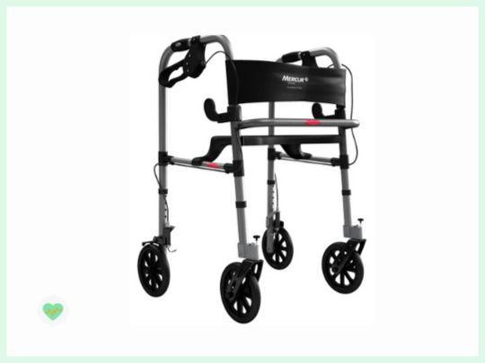 andador para idoso com quadro rodas e assento