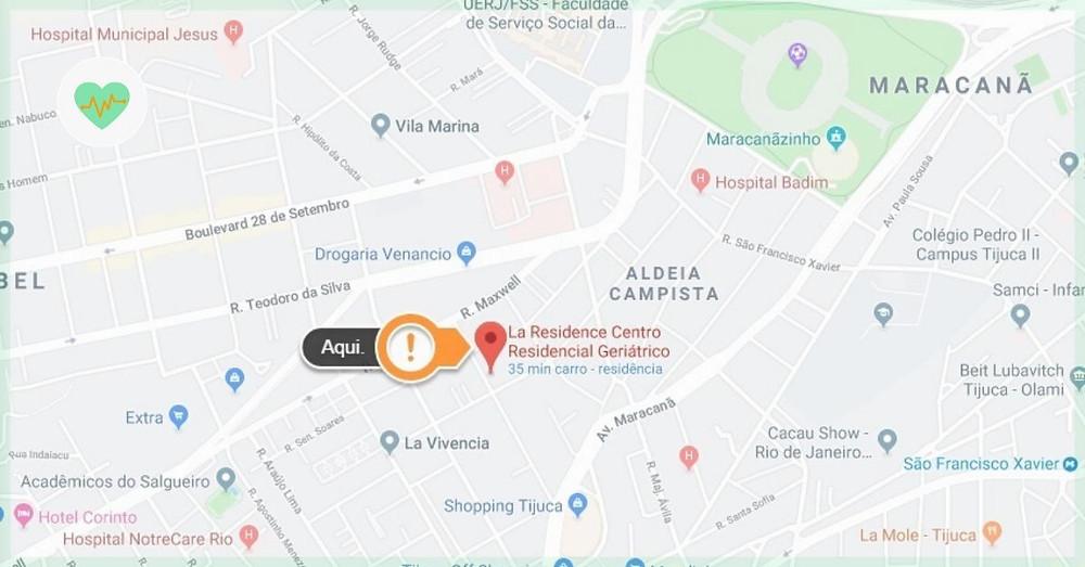 mapa la residence