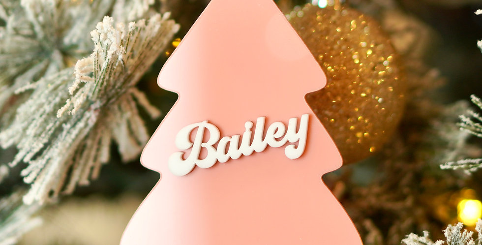 PERSONALIZED TREE SHAPED ORNAMENT
