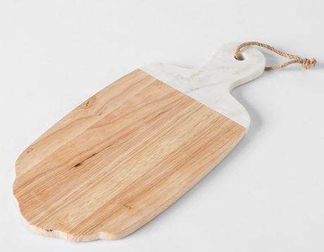 Wood Marble Cheese Board