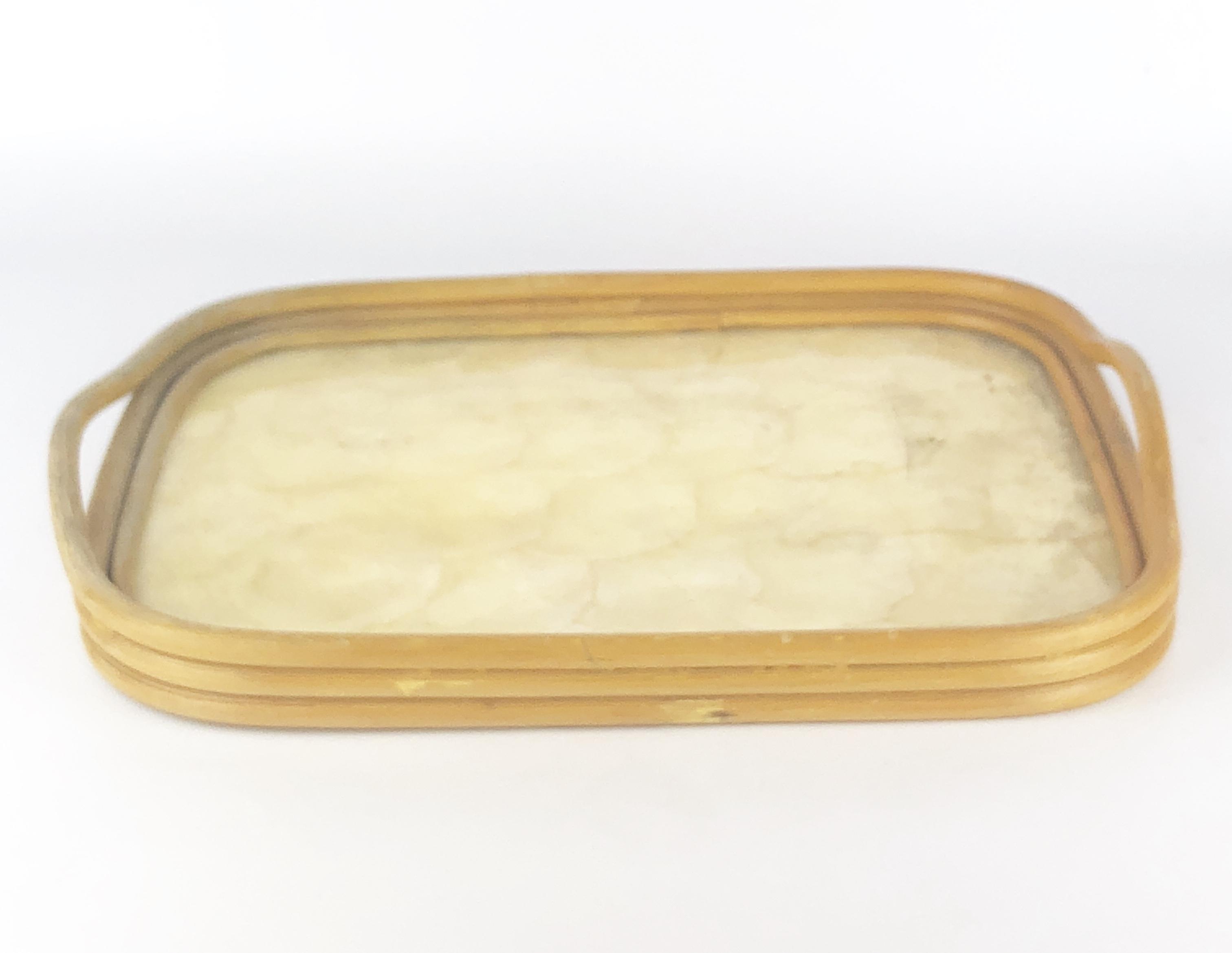 Capiz Shell/Bamboo Tray