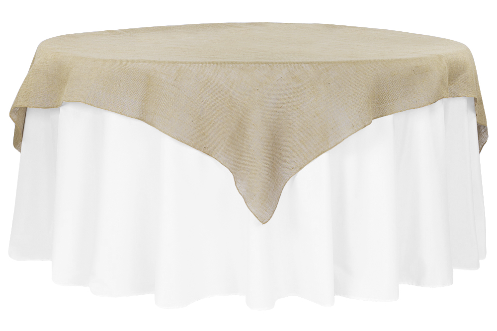 Burlap Square Table Overlay