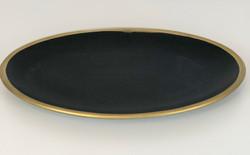 Black Plates with Gold Rim