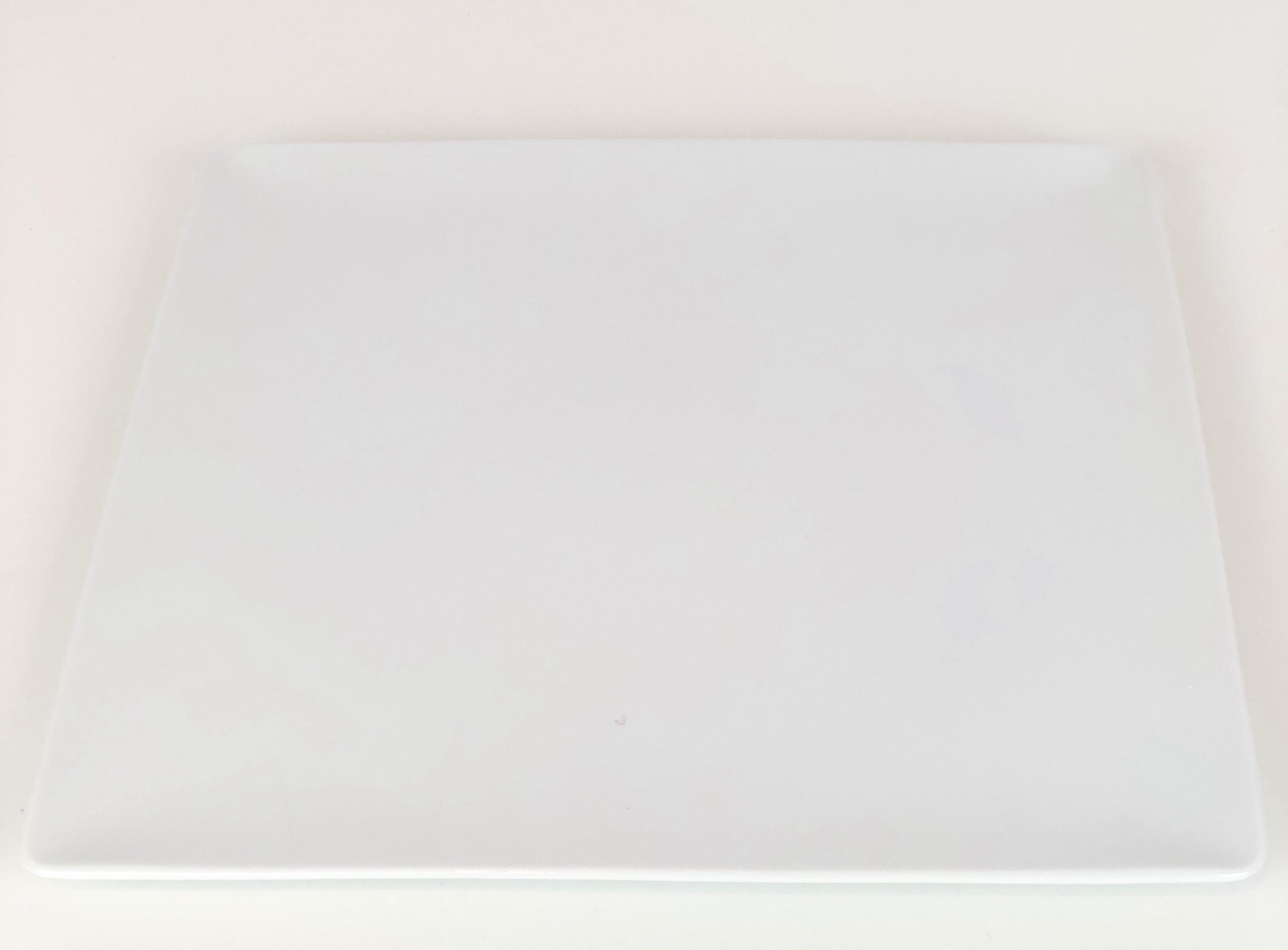 Flat White Square Plate