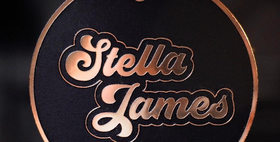 MATTE BLACK + GOLD CIRCLE NAME 2020