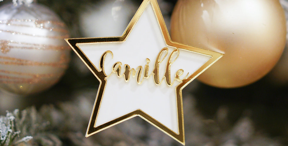 STAR PERSONALIZED ORNAMENT
