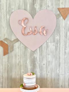 Valentine's Themed First Birthday