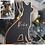 Thumbnail: MATTE BLACK + GOLD FOIL DOG ORNAMENT