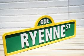 Sesame Street Name Sign