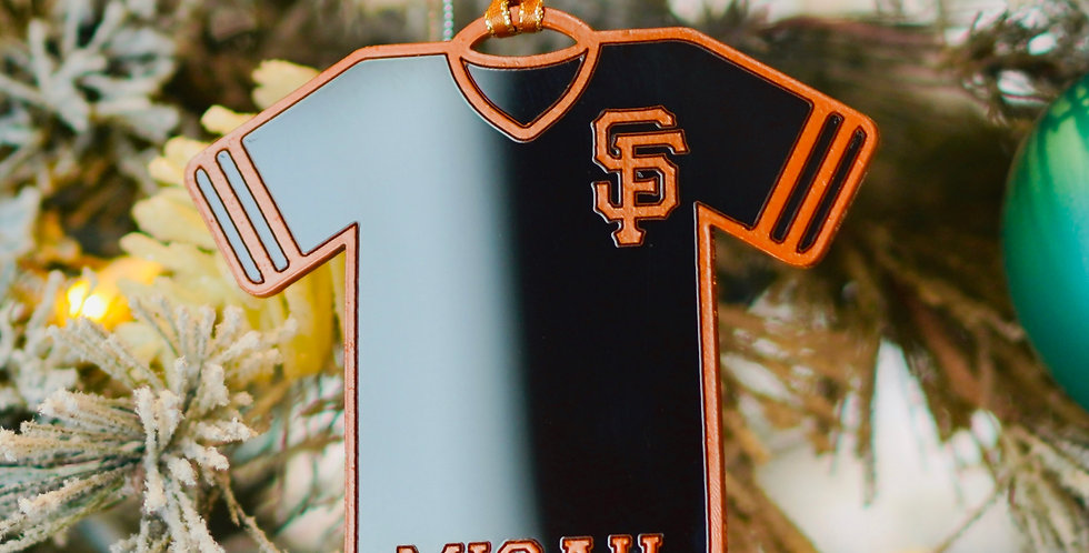 SF GIANTS JERSEY ORNAMENT
