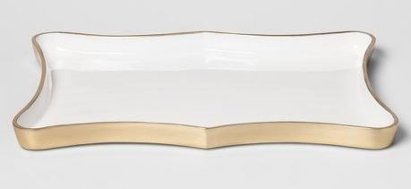 White Gold Scalloped Tray
