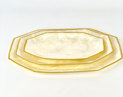 Hexagon Capiz Shell Plates
