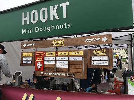 HOOKT DONUTS TENT DISPLAY