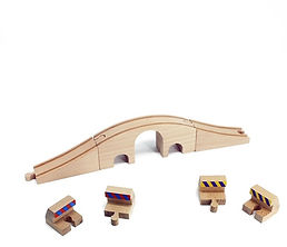 brio train track wooden baby tunnel bump