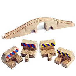 brio wooden bumper tunnel train set girl