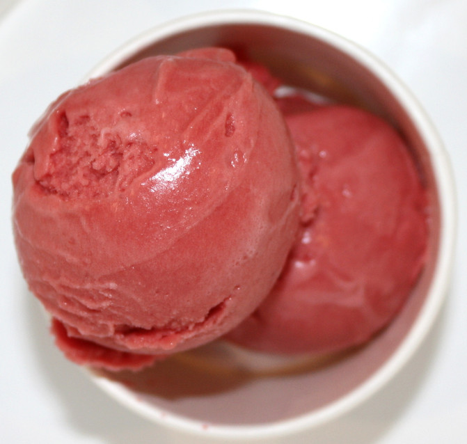 Strawberry Hibiscus Sorbet