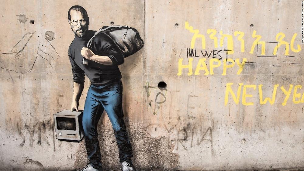 Սթիվ Ջոբսի պատկերը՝ փախստականի կերպարում