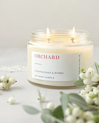 TRADE: Christmas Large  2 wick candles 500g