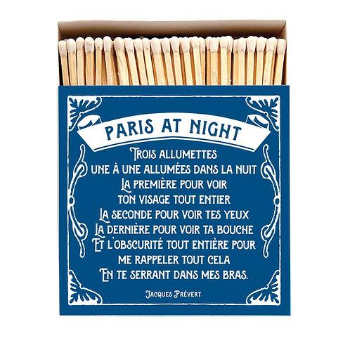 Paris At Night Luxury Letterpress printed matches