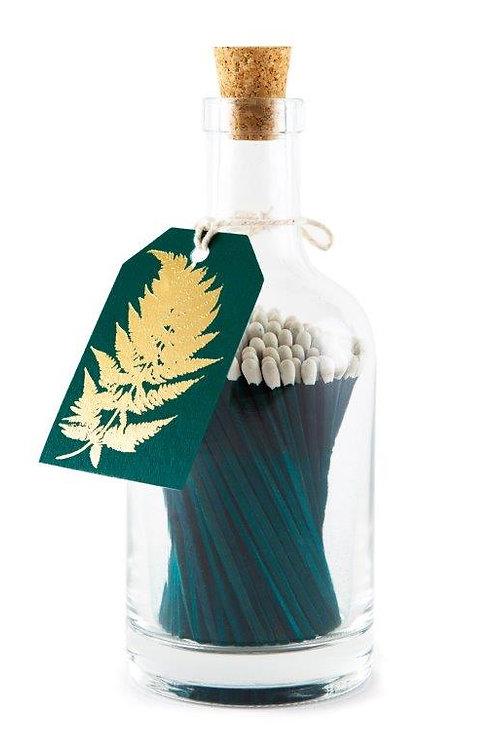 Luxury Glass bottle 'Fern' 125 long matches