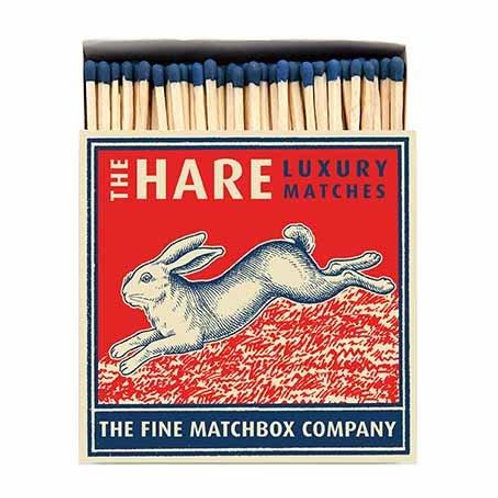 Hare Luxury Letterpress printed matches