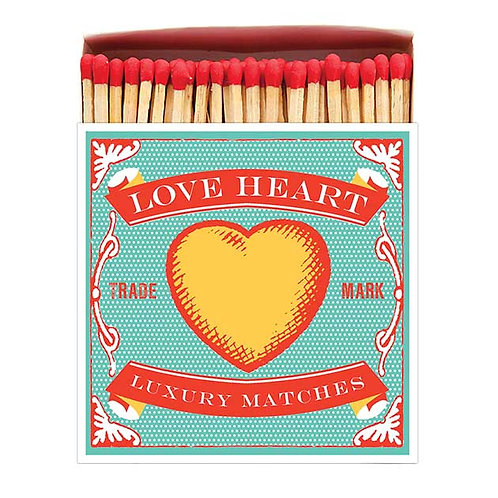 'Loveheart'  Luxury Letterpress printed matches