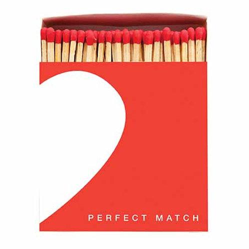 'Perfect Match' Luxury Letterpress printed matches