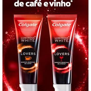COLGATE ANUNCIA LUMINOUS WHITE LOVERS PARA OS APAIXONADOS POR VINHO E CAFÉ