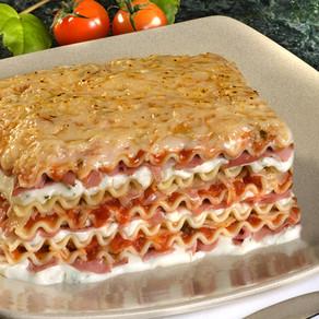 Receita: Lasagna ao molho de aspargos com mortadela