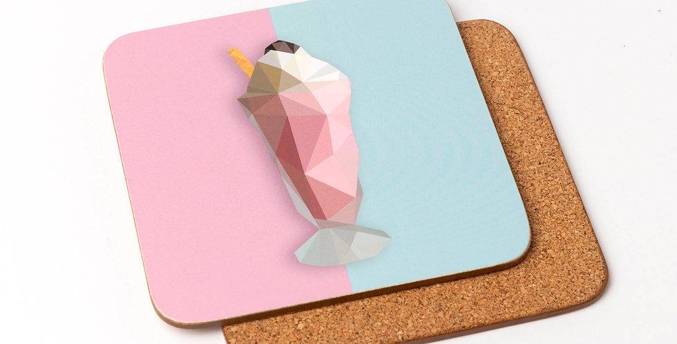 Milkshake Coaster -Low Poly Art