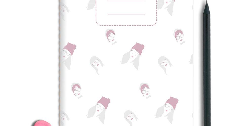 Hipster Girl Notebook A5