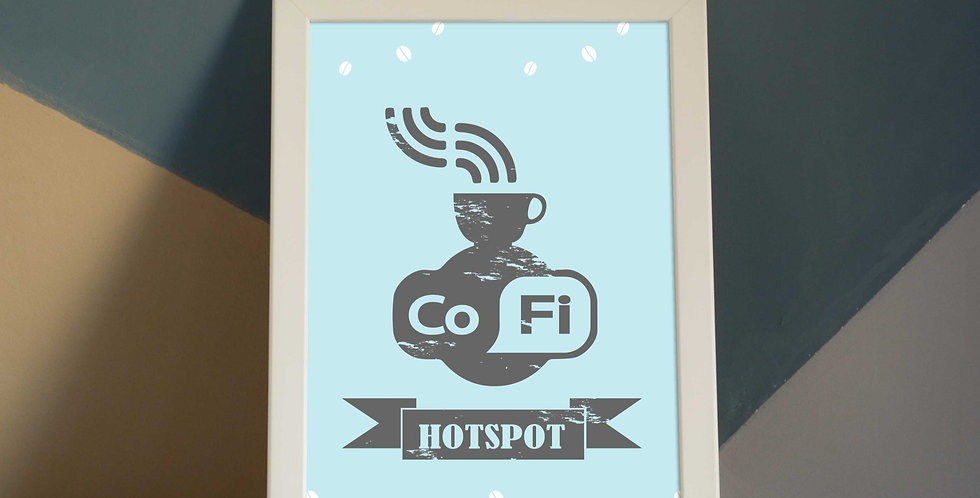 Co-Fi Hotspot! Best Coffee Corner A4 Poster