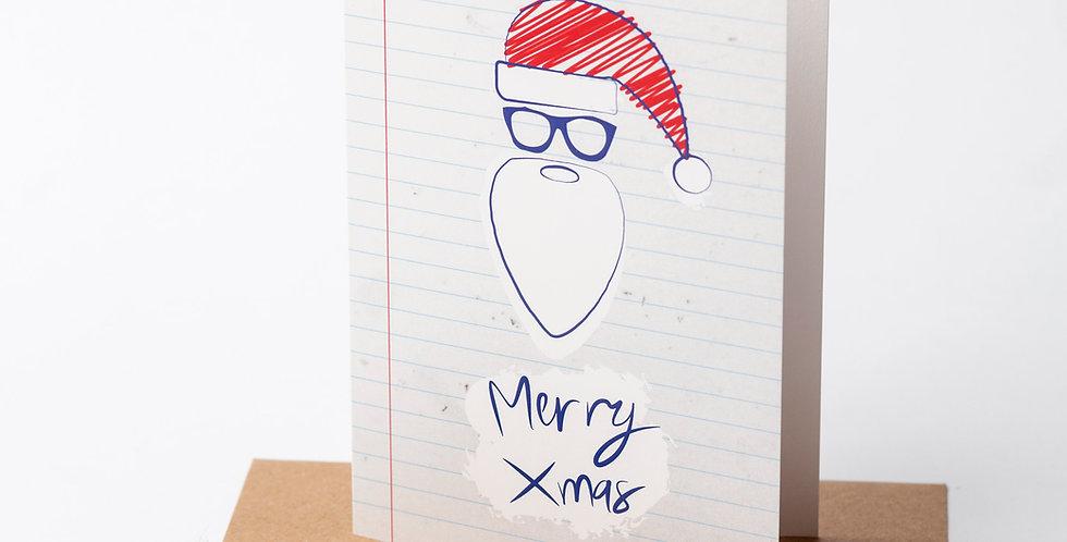 Santa XMas - Greeting Card + Envelope of your choice.