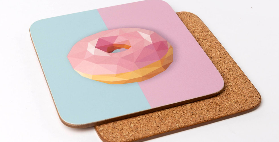 Donut Coaster - Low-Poly Art