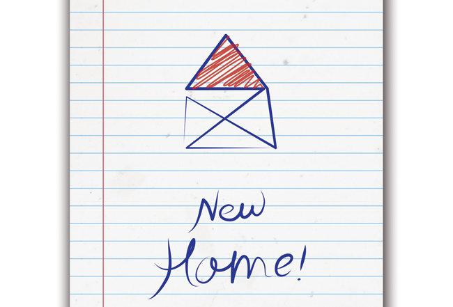 New Home - Postcard