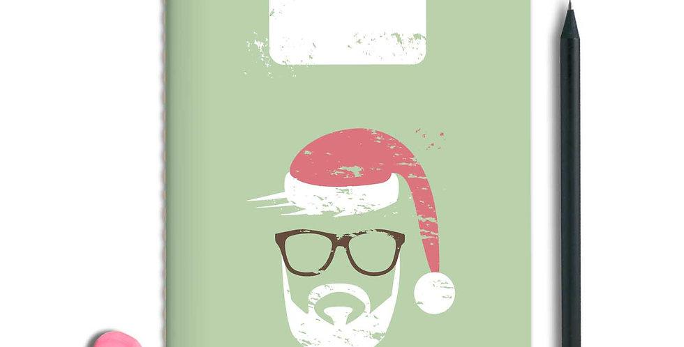 Hipster Santa Notebook A5