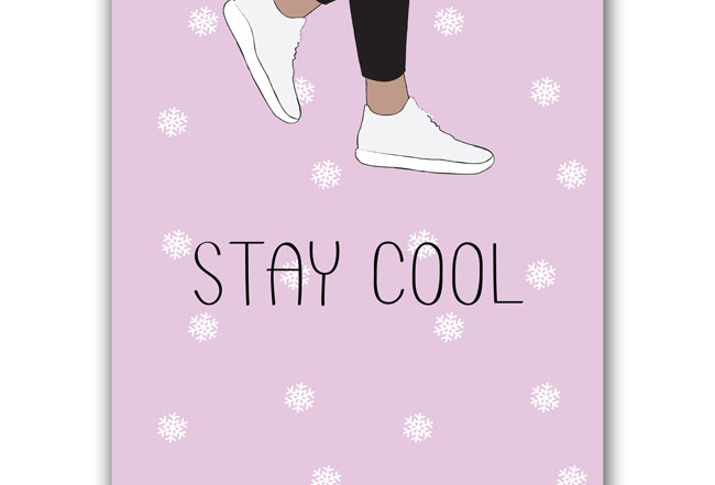 Stay Cool - Hipster Flanking Postcard - Only for cool people :)