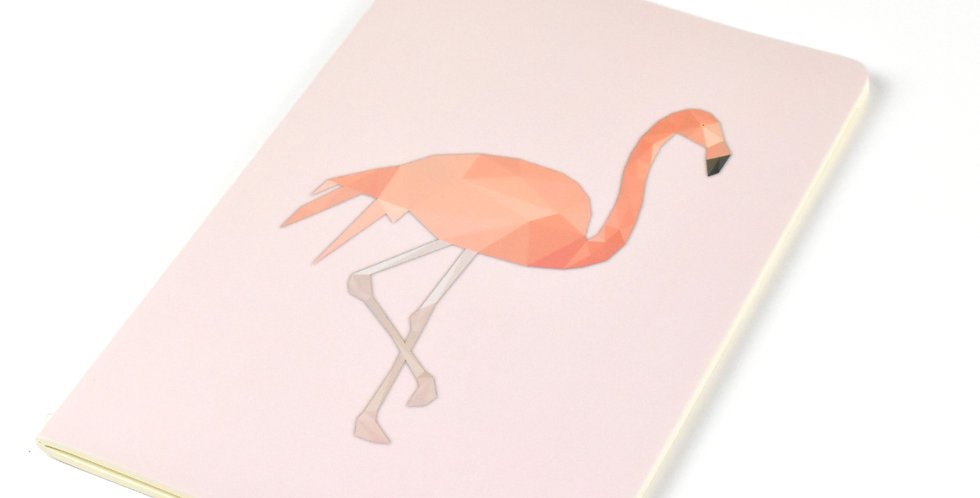 Flamingo - Geometric Low Poly Art DIN A5 Notebook.