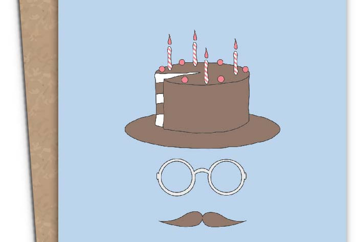 Happy Birthday Hipster + Envelope of your choice.