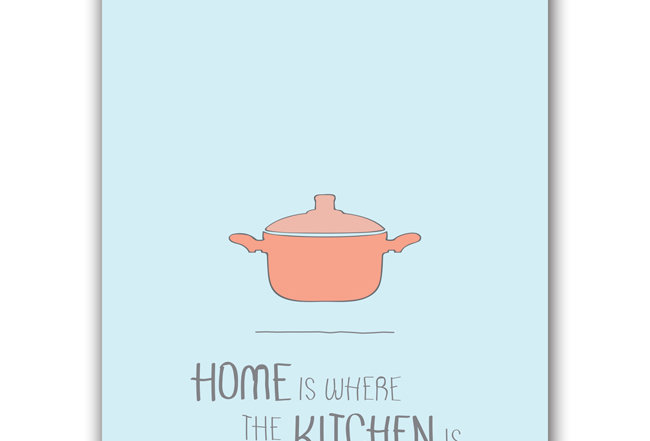 Where The Kitchen is - Postcard