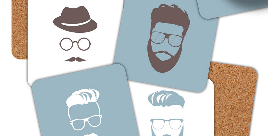 Set of 4 Hipster coasters