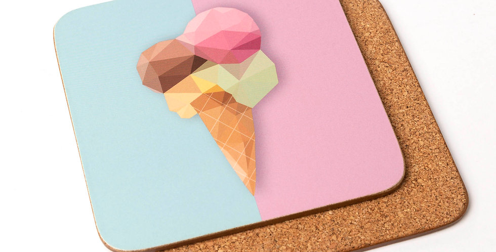 Ice Cream Coaster - Low Poly Art