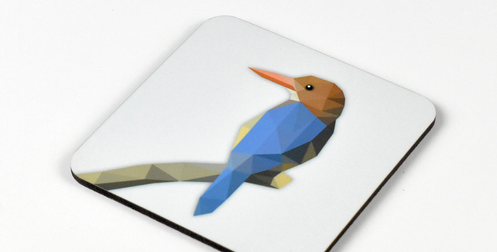 White-breasted Kingfisher Coaster