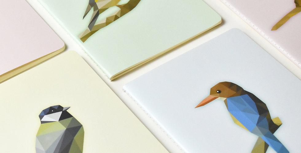 Set of 4 Low-Poly Birds A5 Notebooks